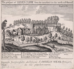 A view of Guy's Cliffe with the Chapel, Warwickshire, 1788